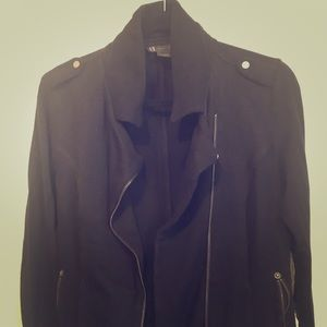 Armani Exchange Black Bomber Jacket